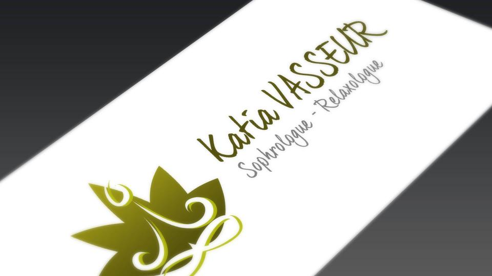 creation de logo du sophrologue katia vasseur