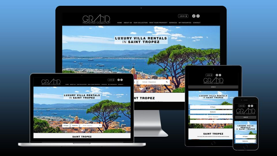 creation site internet location villa luxe saint tropez